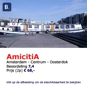 bed and breakfast woonboot Amsterdam amicitia