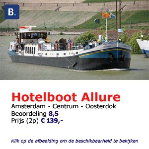 bed and breakfast woonboot Amsterdam allure